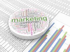 3d marketing Stock Illustration
