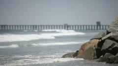Stock Video Footage of Rocky Beach Pier