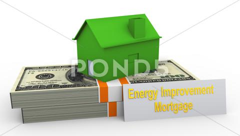 Stock Illustration of energy improvement mortgage