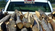 Stock Video Footage of Rick Of Firewood In Bed Of Pickup Truck 2