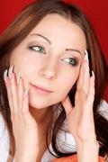 Young caucasian woman Stock Photos
