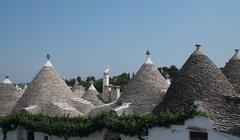 Trulli, a traditional apulian dry stone hut. Stock Photos
