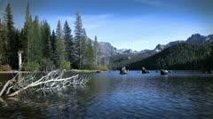 Stock Video Footage of Mountain Lake 1