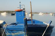 Docked fishing boat. Stock Photos