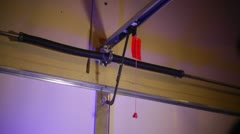 Garage repair instal installation Stock Footage