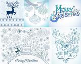 Set of christmas cards Stock Illustration