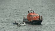 Stock Video Footage of Life boat practicing a rescue.