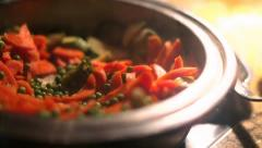 Cooked food in the pan Stock Footage