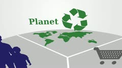 Profit, planet and people - stock footage