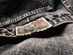 black jeans(close up) - stock photo