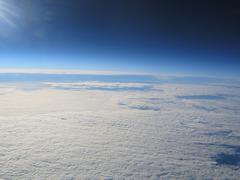 Planet Earth high altitde picture of clouds - stock photo