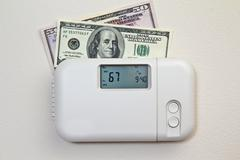 home heating costs - stock photo