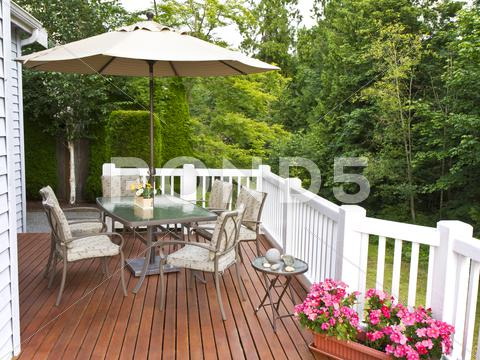 Stock photo of outdoor patio