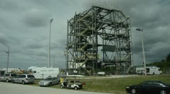 NASA prepares shuttle for final flight Stock Footage