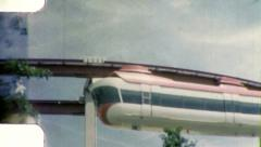 New York USA WORLD's FAIR Monorail 1960s (Vintage Film Home Movie) 4942 - stock footage
