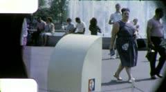New York USA WORLD's FAIR Globe UNISPHERE 1960s (Vintage Film Home Movie) 4944 Stock Footage
