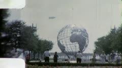 New York USA WORLD's FAIR Globe UNISPHERE 1960s (Vintage Film Home Movie) 4945 Stock Footage