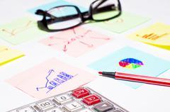 Commercial summary Stock Photos