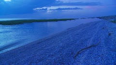 Blue Evening Shore Stock Footage