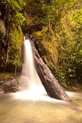 Stock Photo of Small Waterfall In Mindo Complex Ecuador