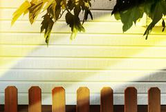 Stock Illustration of wooden decorative fence and  wall