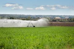 irrigation systems - stock photo