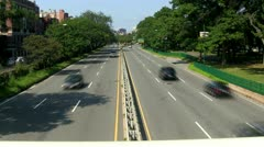 Storrow drive traffic time-lapse Stock Footage