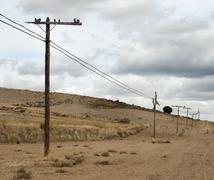 Old electric poles Stock Photos