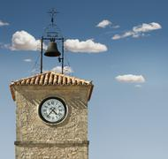 Stock Photo of antique clock on a building
