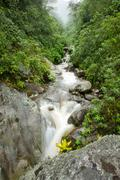 Stock Photo of Waterfall In Machay Mountain Close To Banos Ecuador