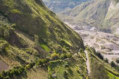 Stock Photo of Landscape In Ecuadorian Andes Near Banos
