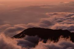 Stock Photo of Sunset Over The Andean Mountains In Ecuador Chimborazo Province About 5000M Of