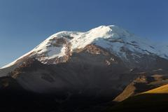 Chimborazo Volcano Ecuador While Is Not The Highest Mountain By Elevation Above Stock Photos
