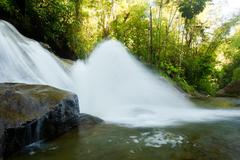 Nanegal Waterfall At 1 Hour Drive North Of Quito Ecuador - stock photo