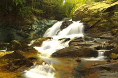Very Beautiful Waterfall Scene Ecuador North Of Quito - stock photo