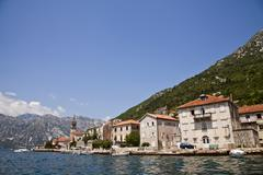 Old adriatic town on the sea Stock Photos