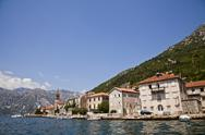Stock Photo of old adriatic town on the sea