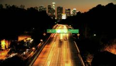 Los Angeles City Rush Hour Sunset Time Lapse Stock Footage