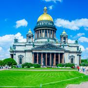 saint isaac's cathedral, st. petersburg - stock photo