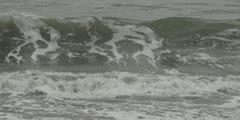 San Francisco Wave Crashing Breaking Slow Motion 120 fps 2k Red One MX Stock Footage
