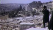 Mount of Olives ISRAEL Jerusalem JEWISH 1960s Vintage Film Home Movie 4954 Stock Footage
