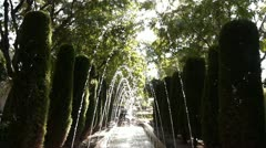 Fountains in a Garden Stock Footage