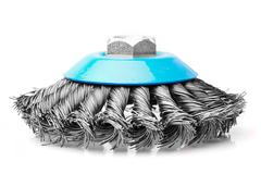 Small Rotative Brush Used For Metals Studio Isolated Shot - stock photo