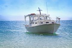 White Boat - stock photo