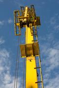 Close Up Of A Crane Arm In Sunset Light Standard Prime Lens Used - stock photo