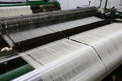 Weaving Machine High Point View With Explicit Fabrication Detail - stock photo