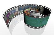 3d spiral film strip Stock Illustration