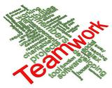 Stock Illustration of 3d wordcloud of teamwork