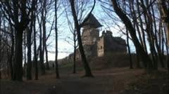 Old architecture of Transcarpathian Ukraine Stock Footage