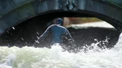 Riversurfing - stock footage